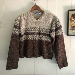 Vintage Semi-Cropped Knit Sweater